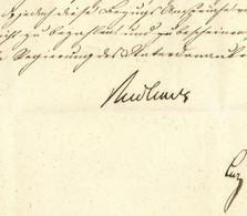 Bayern Ignaz Ritter Von RUDHARDT (1790-1838) MINISTERPRÄSIDENT GRIECHENLAND 1837 Greece Gründer Universität Athen - Autogramme & Autographen