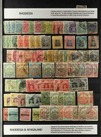 THE RHODESIAS  LARGE COLLECTION / ACCUMULATION Mint & Used Housed In A Stock Book With Many Better Items Included Note 1 - Unclassified