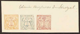 SENEGAL - EARLY ESSAYS  Circa 1861 (created By A French Artist/ Collector) Three Small Stamp-sized Hand Painted Essays A - Unclassified