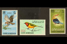 BIRDS  JORDAN 1964 Birds Airmail Set Complete, SG 627/9, Very Fine Never Hinged Mint. (3 Stamps) For More Images, Please - Unclassified