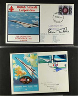CONCORDE  1969-90 COVERS COLLECTION Presented In Protective Pages In An Album. Includes Commemorative Flights, First Day - Unclassified