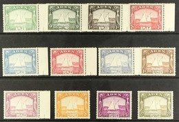 """1937  1937 """"Dhows"""" Complete Definitive Set, SG 1/12, Never Hinged Mint. (12 Stamps) For More Images, Please Visit Http:/ - Aden (1854-1963)"""