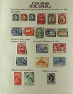 HADHRAMAUT  1942-63 FINE MINT COLLECTION Presented On Album Pages, ALL DIFFERENT & Includes 1942-46 Set, 1946-49 Victory - Aden (1854-1963)