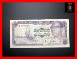 GAMBIA 1 Dalasi  1971  P. 4 A  Rare Signature VF - Gambia