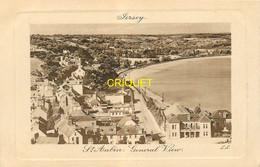 Jersey, St Aubin, General View, Carte Cadre Gaufré - Jersey