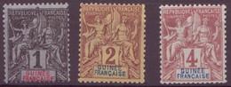 ⭐ Guinée - YT N° 1 à 3 ** - Neuf Sans Charnière - 1892 ⭐ - Unused Stamps