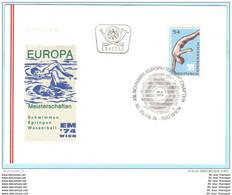 ÖSTERREICH AUSTRIA AUTRICHE - FDC - 1461 Schwimmen EM Sport   (27703) - FDC
