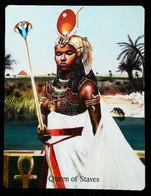 Queen Of Staves - Osiris Maat Osirian Myth - A Divination & Meditation Tarot Card - Tarots