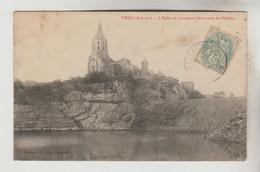 CPA FIRMI (Aveyron) - L'Eglise Et L'ancienne Découverte De Charbon - Firmi