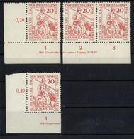 DDR, MiNr. 544 DV Typ C + C/1 Druckvermerk, Postfrisch, Tag Der Briefmarke - Ungebraucht