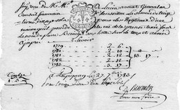 ROUSSILLON,1 Sol 2 Dec, Sur Reçu Du 27/9/1783. - Gebührenstempel, Impoststempel