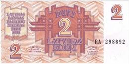 BILLETE DE LETONIA DE 2 RUBLOS DEL AÑO 1992 EN CALIDAD EBC (XF) (BANK NOTE) - Latvia