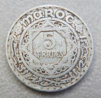 Monnaie De 5 Francs Maroc, Empire Chérifien 1370 (1951) - Marocco