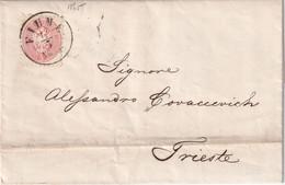 AUTRICHE 1865 LETTRE DE FIUME - 1850-1918 Imperium