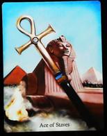 Ace Of Staves - Osiris Maat Osirian Myth - A Divination & Meditation Tarot Maxi Card - Tarots