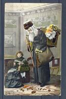 CP ANCIENNE REF211020..Merry Xmas, Les Deux Petites Filles Et Le Père Noel - Fantasie