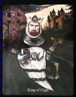 King Of Cups -  Arthur Legend - Arthurian Britian Myth - A Divination & Meditation Tarot Maxi Card - Tarots