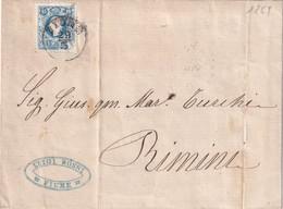 AUTRICHE 1859 LETTRE DE FIUME - 1850-1918 Imperium