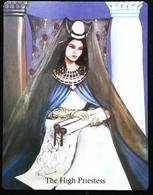 The High Priestess - Arthur Legend - Arthurian Britian Myth - A Divination & Meditation Tarot Maxi Card - Tarots