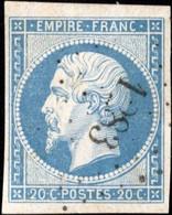 N°14Af + 14Am : Bleu Laiteux + Bleu Laiteux Verdâtre ( Voir Cote Ci-dessous ), Très Bien Margés, Sans Aminci, Qualité TB - 1853-1860 Napoleone III