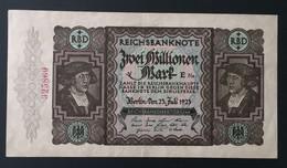 RAR Banknote Reichsbanknote 2 Millionen Mark 1923 Deutschland Germany Erhaltung Siehe Scans - 2 Millionen Mark