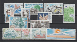 TAAF Année Complète 1990 148-154 Et PA 110-111,113A,114 ** MNH - Komplette Jahrgänge