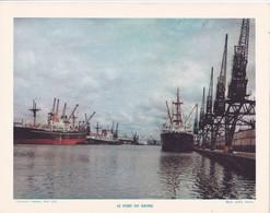 Chromo : Image Pédagogique : Région : La Normandie : Seine Maritime : HAVRE : Le Port : - Otros