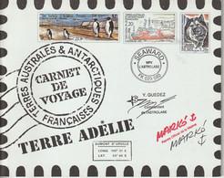 TAAF Carnet De Voyage 2001 Contenant 2 Séries 308-21 ** MNH - Carnets