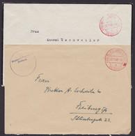 """""""Freiburg"""", 2x Rot """"Gebühr Bezahlt"""", 11.45, Versch. Postämter! - Zona Francesa"""
