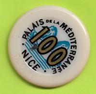 Jeton De Casino NICE Palais De La Mediterranee 1,00  Numero  32622  Surcharge De 100 En 1,00 Virgule  Plat04 - Casino