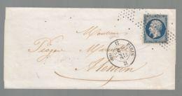 Oblit. - Oblitération Roulette Sans Fin D'étoiles Sur Lettre De Paris Pour Alençon - 1849-1876: Klassieke Periode