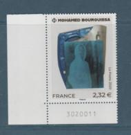 FRANCE / 2020 / Y&T N° 5433 ? ** : Oeuvre De Mohamed Bourouissa X 1 CdF Inf G Avec N° De Feuille - Unused Stamps