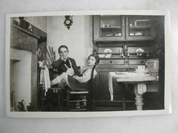CARTE PHOTO - Portrait D'un Couple Femme Et Enfant - Fotografia