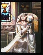 Queen Of Cups (Guinevere Holy Grail) Arthur Legend - Arthurian Britian Myth - A Divination & Meditation Tarot Maxi Card - Tarots