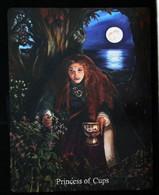 Princess Of Cups (Morgan  Holy Grail) Arthur Legend - Arthurian Britian Myth - A Divination & Meditation Tarot Maxi Card - Tarots