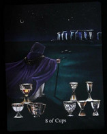 8 Of Cups (Merlin Dolmen)  Arthur Legend Arthurian Britian Myth - A Divination & Meditation Tarot Maxi Card - Tarots
