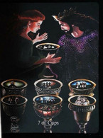 7 Of Cups (Morgan Le Fay & Arthur)  Arthur Legend Arthurian Britian Myth - A Divination & Meditation Tarot Maxi Card - Tarots