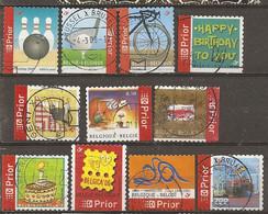 Belgique Belgium 2009 Priority Stamps With Golf Etc Obl - Belgium