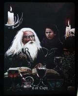 6 Of Cups (Merlin & Ywain Freemasonry)  Arthur Legend Arthurian Britian Myth - A Divination & Meditation Tarot Maxi Card - Tarots