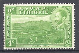 Ethiopia, 1947, Landscapes, Definitive, 4c, MNH, Michel 243 - Ethiopia