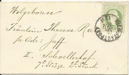 Österreich 1880, EF 3 Kr. Auf Orts Brief M. K1 Wien Stadtpost - 1850-1918 Imperium