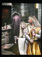 5 Of Cups ( Guinevere Athur Lancelot )  Arthur Legend Arthurian Britian Myth - A Divination & Meditation Tarot Maxi Card - Tarots