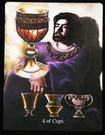 4 Of Cups  (Grall Holy Grail) -  Arthur Legend Arthurian Britian Myth - A Divination & Meditation Tarot Maxi Card - Tarots
