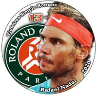 Pin Rafael Nadal Roland Garros 2020 13 Victoires Simple Homme - Tennis