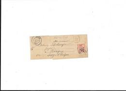 SAÔNE & LOIRE ( 70 ) « AUTUN » * Imprimés Non-Périodiques « RECOMMANDE » Sous Bande *  Tarif 3ème Ech. - 1877-1920: Semi Modern Period