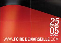 PUBLICITÉ ÉVÉNEMENT FOIRE DE MARSEILLE  PUZZLE DE 4 CARTES + 1 25 SEPTEMBRE / 05 OCTOBRE CART'COM - Reclame