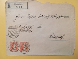 1909 BUSTA RACCOMANDATA SVIZZERA SUISSE HELVETIA BOLLO CROSS & SHIELD  OBLITERE' BLEIENBACH - Storia Postale