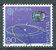 Suisse YT N°1373 Europa 1991 L'Europe Et L'espace Oblitéré ° - Europa-CEPT