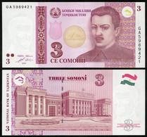 Tajikistan - 3 Somoni 2010 UNC Pick 20 Lemberg-Zp - Tajikistan