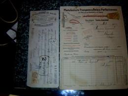 Facture & Lettre De Change Manufacture De Balais  En Paille De Sorgho D'Italie à Valence D' Agen Bertrand & Courdy 1933 - France